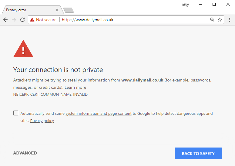 Not Secure Page