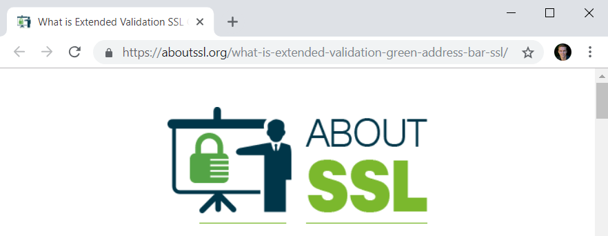 No EV on About SSL