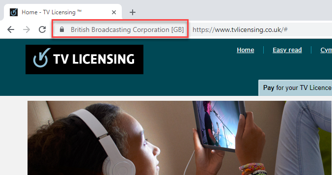 TV Licensing Served Securely
