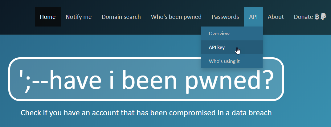 Authentication and the Have I Been Pwned API