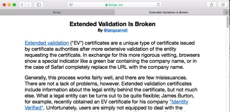 Extended Validation Certificates are (Really, Really) Dead