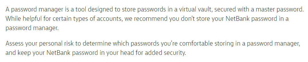 Banks, Arbitrary Password Restrictions and Why They Don't Matter