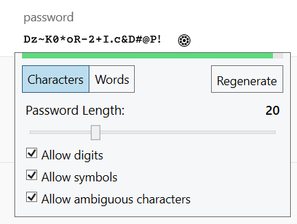 Generated Passwords, UX and Security Absolutism