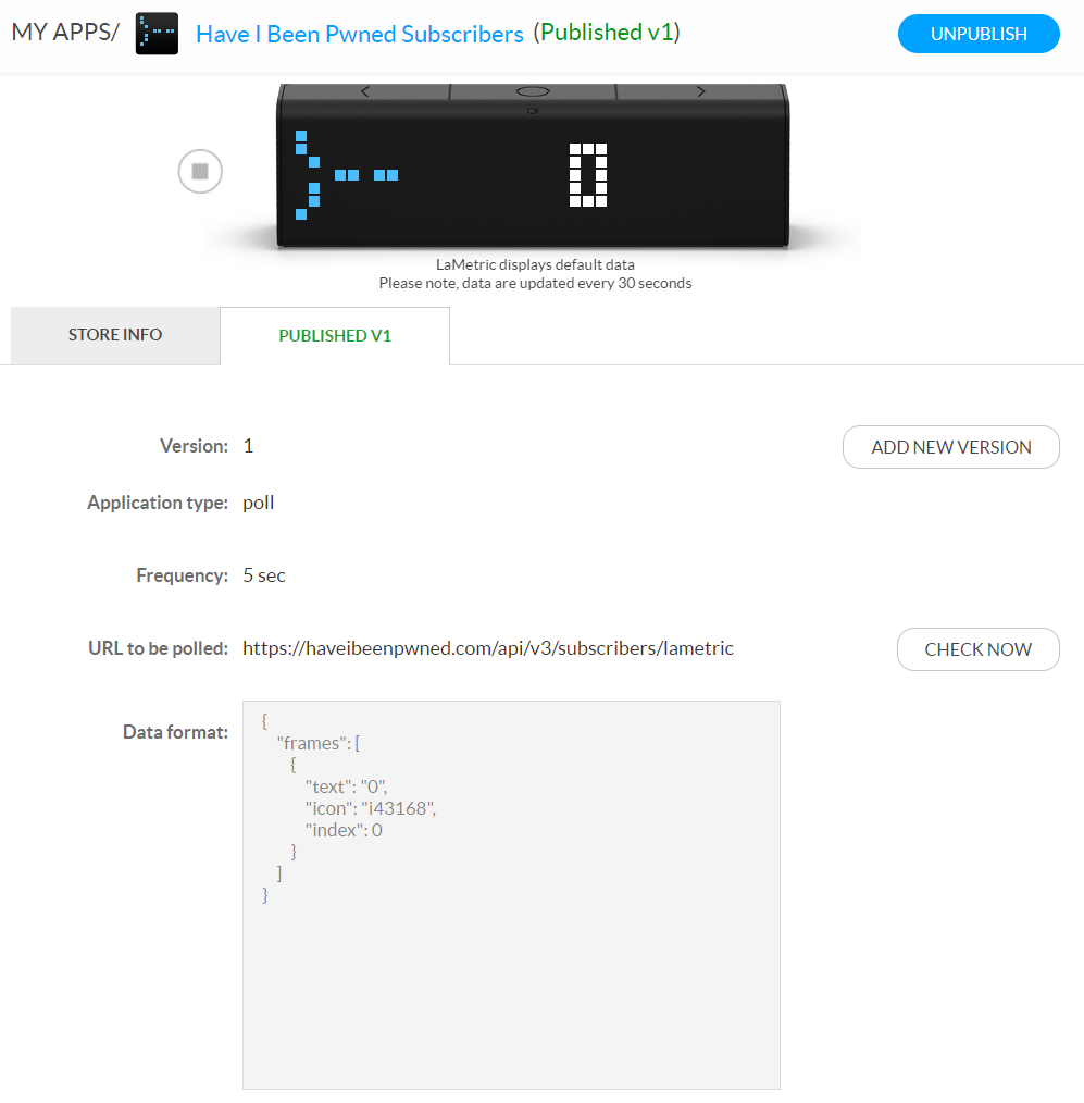 Creating a LaMetric App with Cloudflare Workers and KV